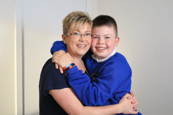 Debbie Finlay with her son, Finlay.