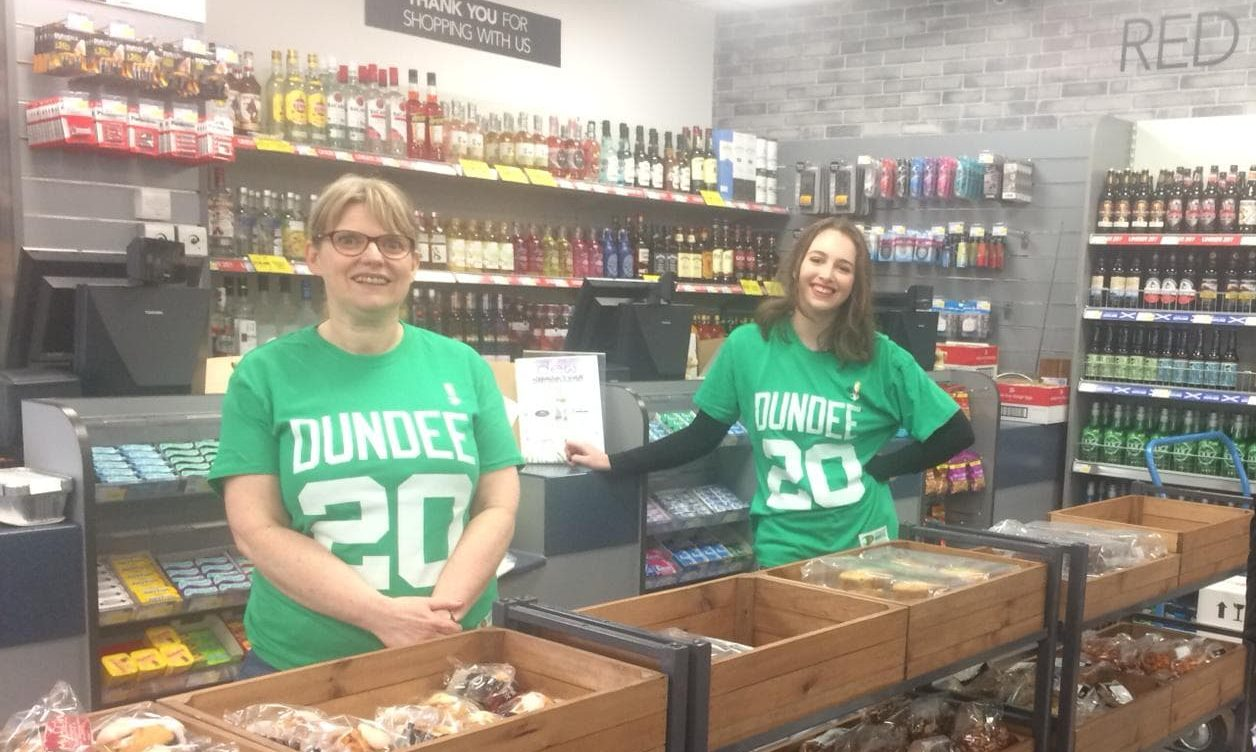 Moira Dean, Premier shop manager, left, and Lauren Macgregor, vice president of student welfare.