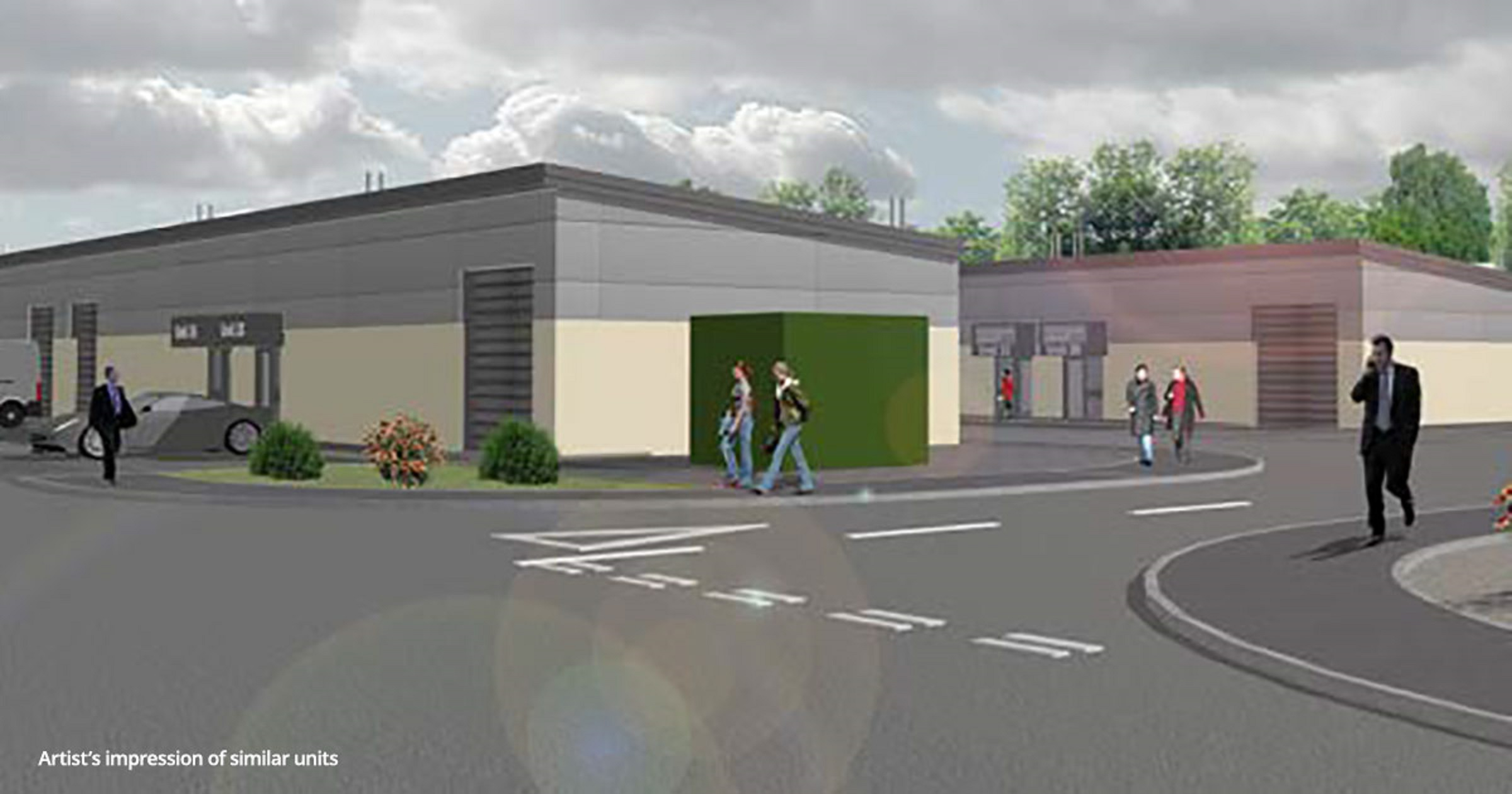 An artist's impression of how the new site will look.