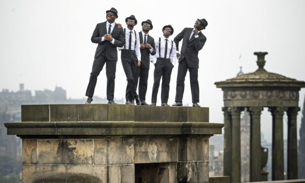 The Black Blues Brothers, five Kenyan artists, at the Fringe in 2019.
