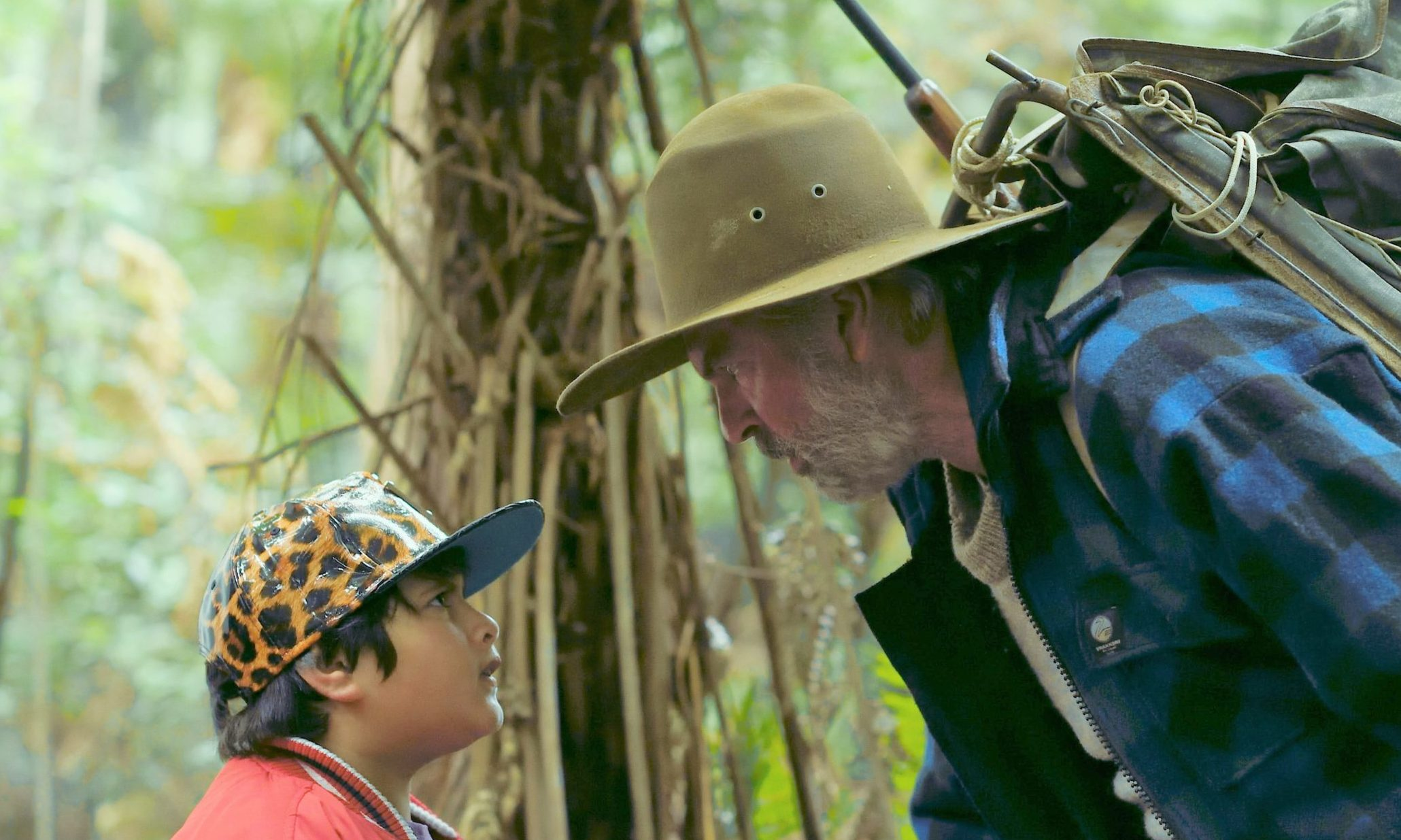 Julian Dennison as Ricky and Sam Neill as Hec in Hunt for the Wilderpeople.