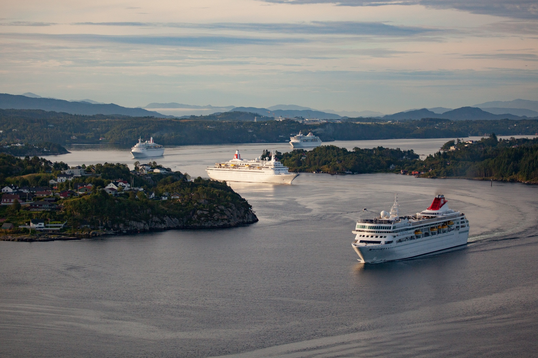 The Balmoral, Braemar, Boudicca and Black Watch pictured here, will all be together once again in the Forth later this week.