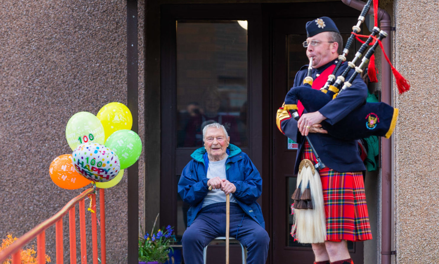 Fred Waters celebrates his 100th birthday in lockdown at his Bridge of Earn home