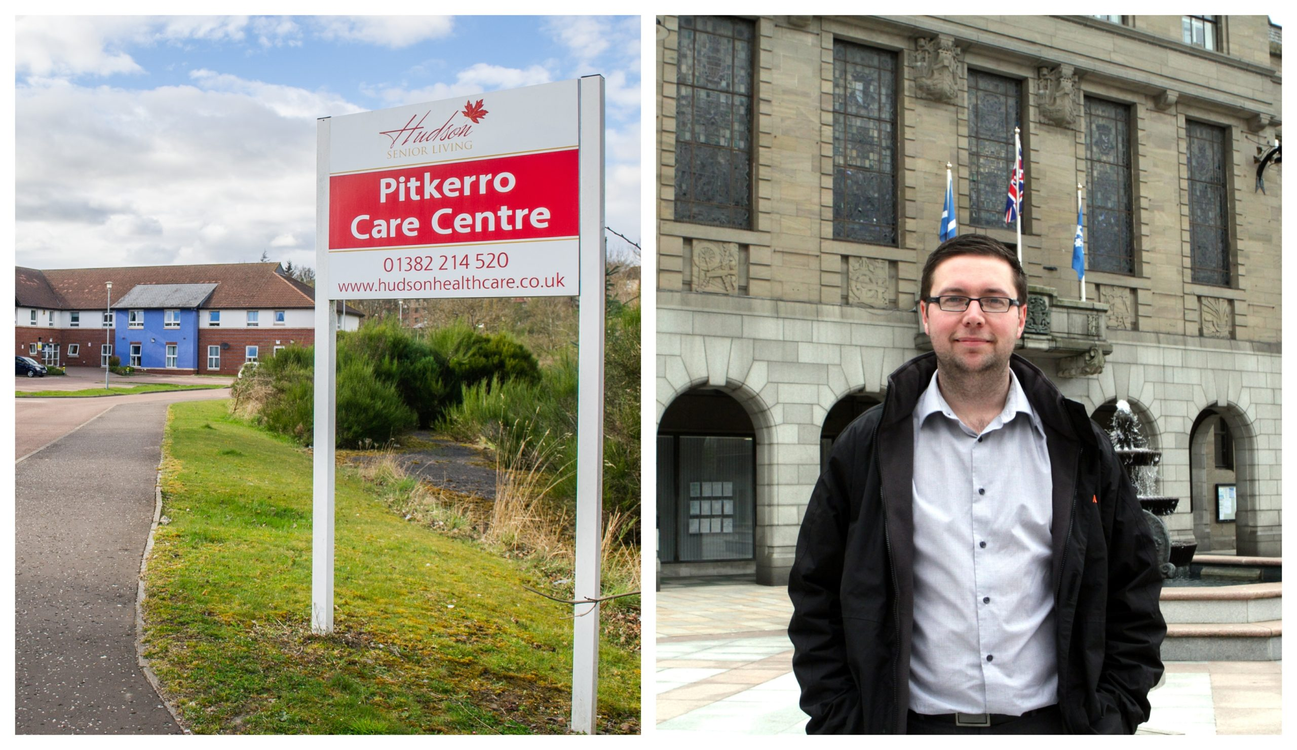 GMB Scotland's Drew Duffy (right) has criticised Pitkerro Care Centre's policies