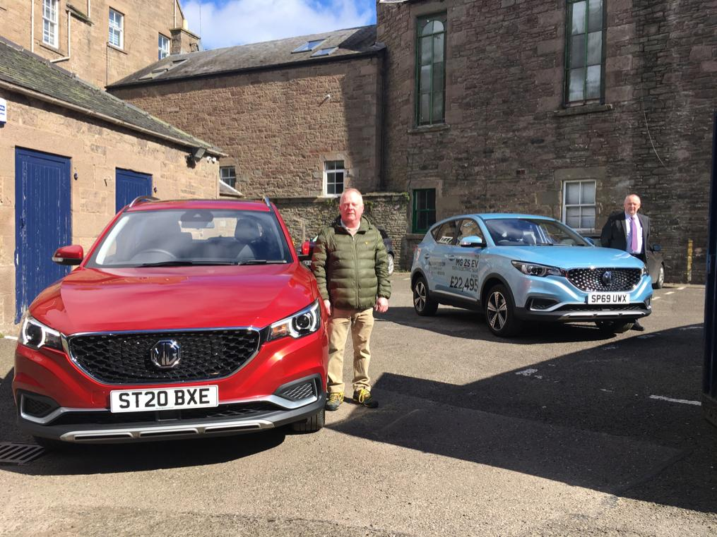 VAA chief executive Gary Malone (left) and George Ross, sales manager of Mackie Motors, Arbroath.