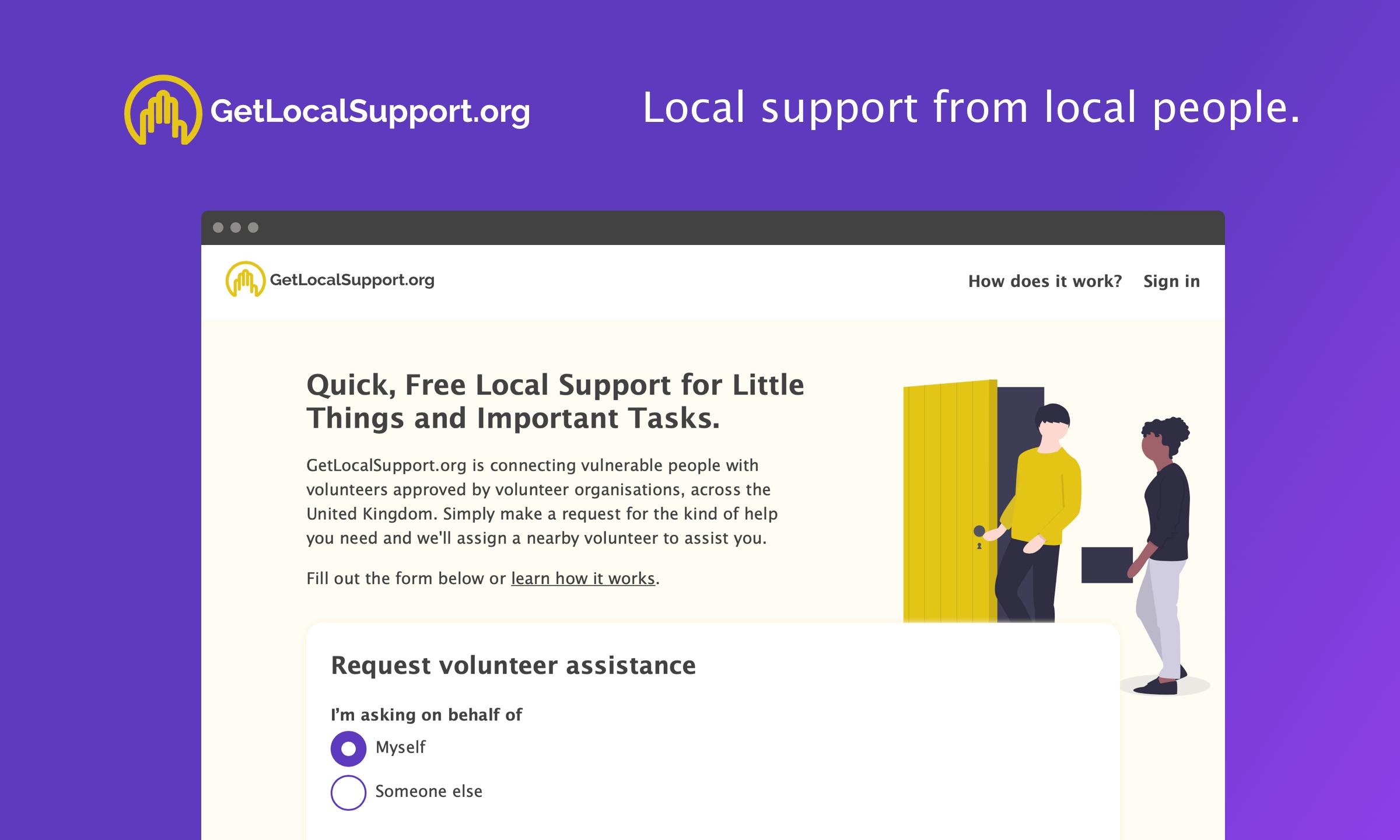 The Getlocalsupport website