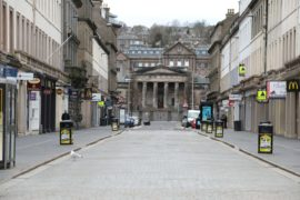 A deserted Reform Street in Dundee. It has been claimed allowing a certain section of the population out of lockdown would benefit the economy.
