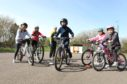 Bikeability sessions have been running at Lochside primary hub in Montrose.