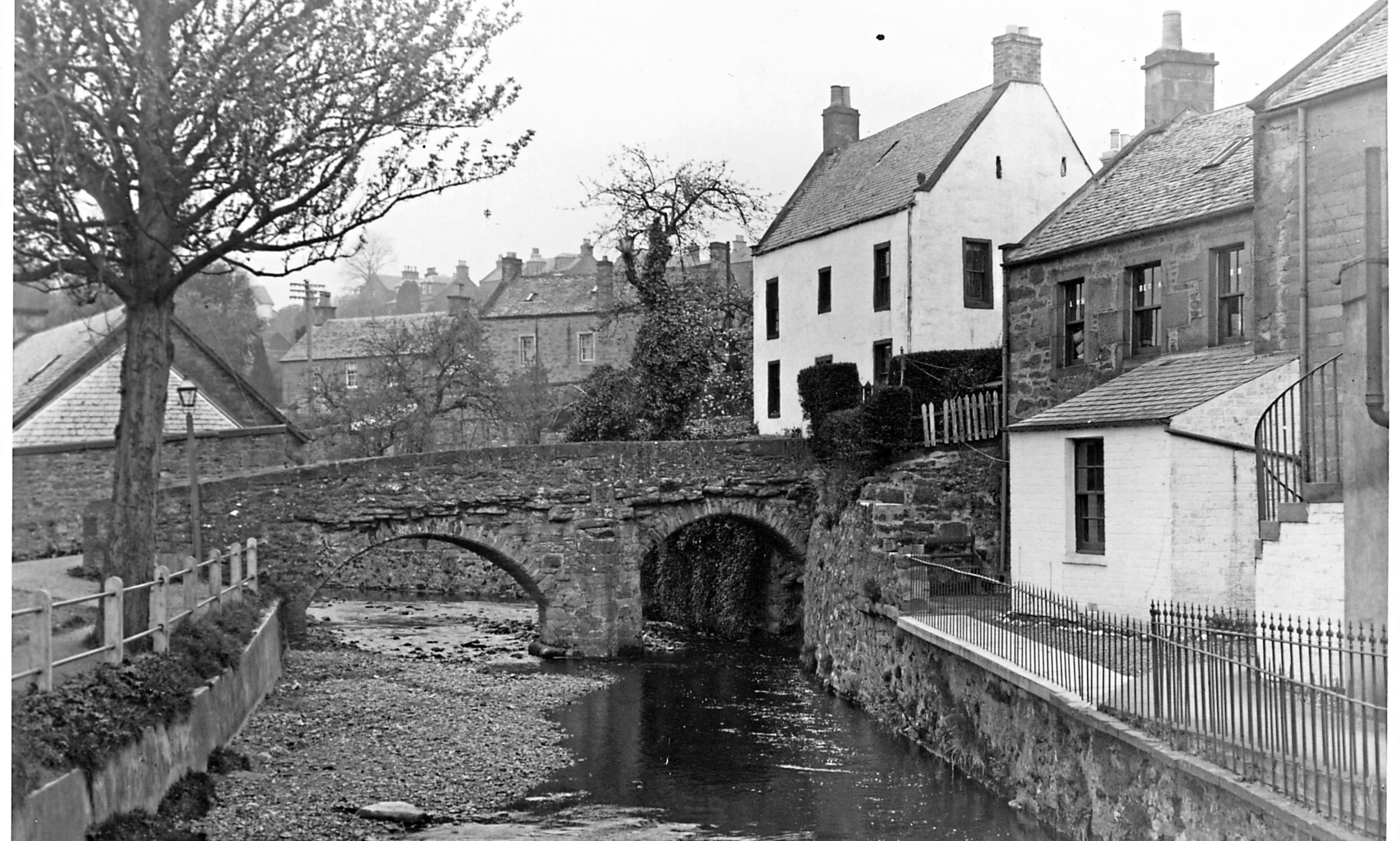 A bridge over the Alyth Burn in days gone by. Alyth was one of the communities the ghost is said to have haunted.