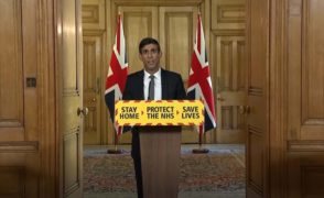 Chancellor RIshi Sunak during a Government daily briefing