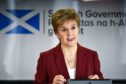 First Minister Nicola Sturgeon speaking at a coronavirus briefing at St Andrews House in Edinburgh
