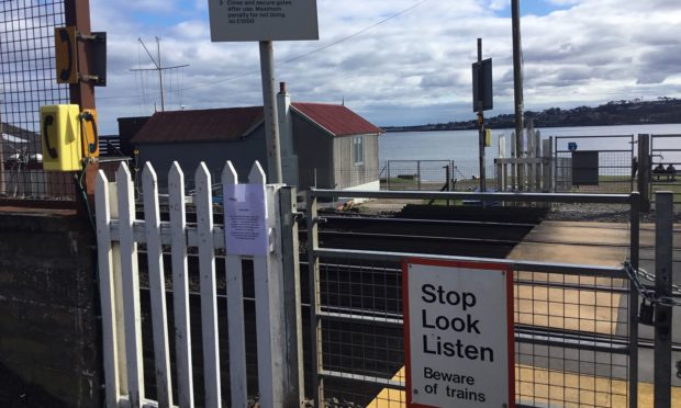 Harecraig Level Crossing had been padlocked shut