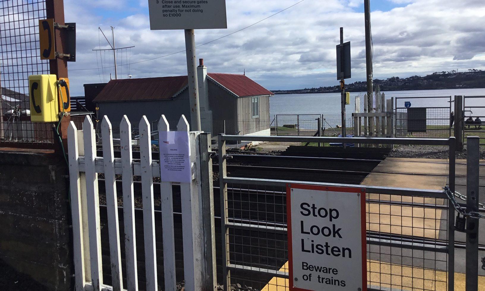 Harecraig Level Crossing had been padlocked shut