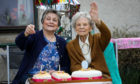 Jessie Sinclair celebrating her 110th birthday with daughter Iris Taylor