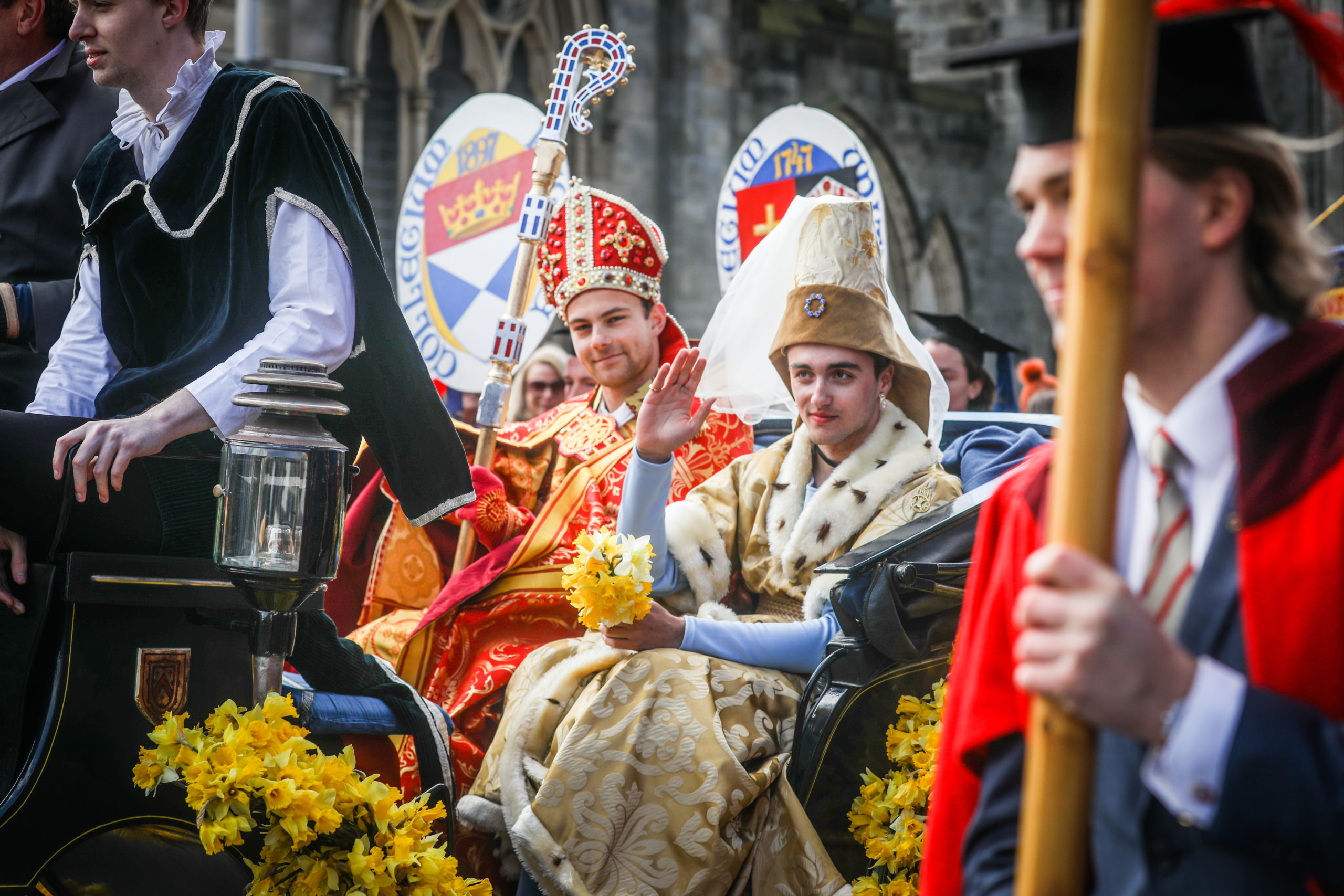 2019 Kate Kennedy procession with Samuel Saunders  pictured as Kate in the middle
