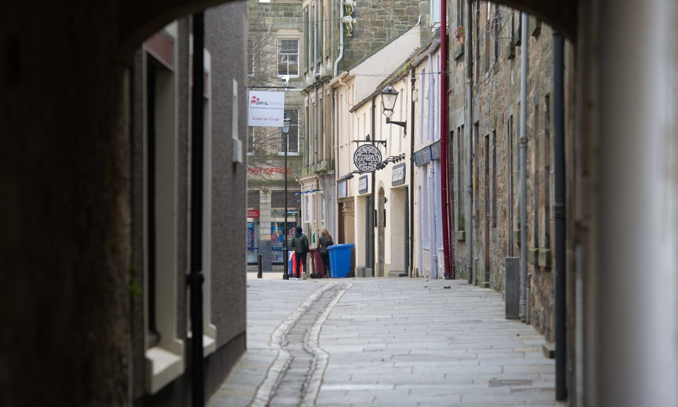 The empty streets of St Andrews following the coronavirus outbreak.