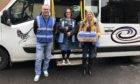 Jackie Bell, Stuart McKenzie and Jenny Teviotdale from the Kirriemuir Day Centre