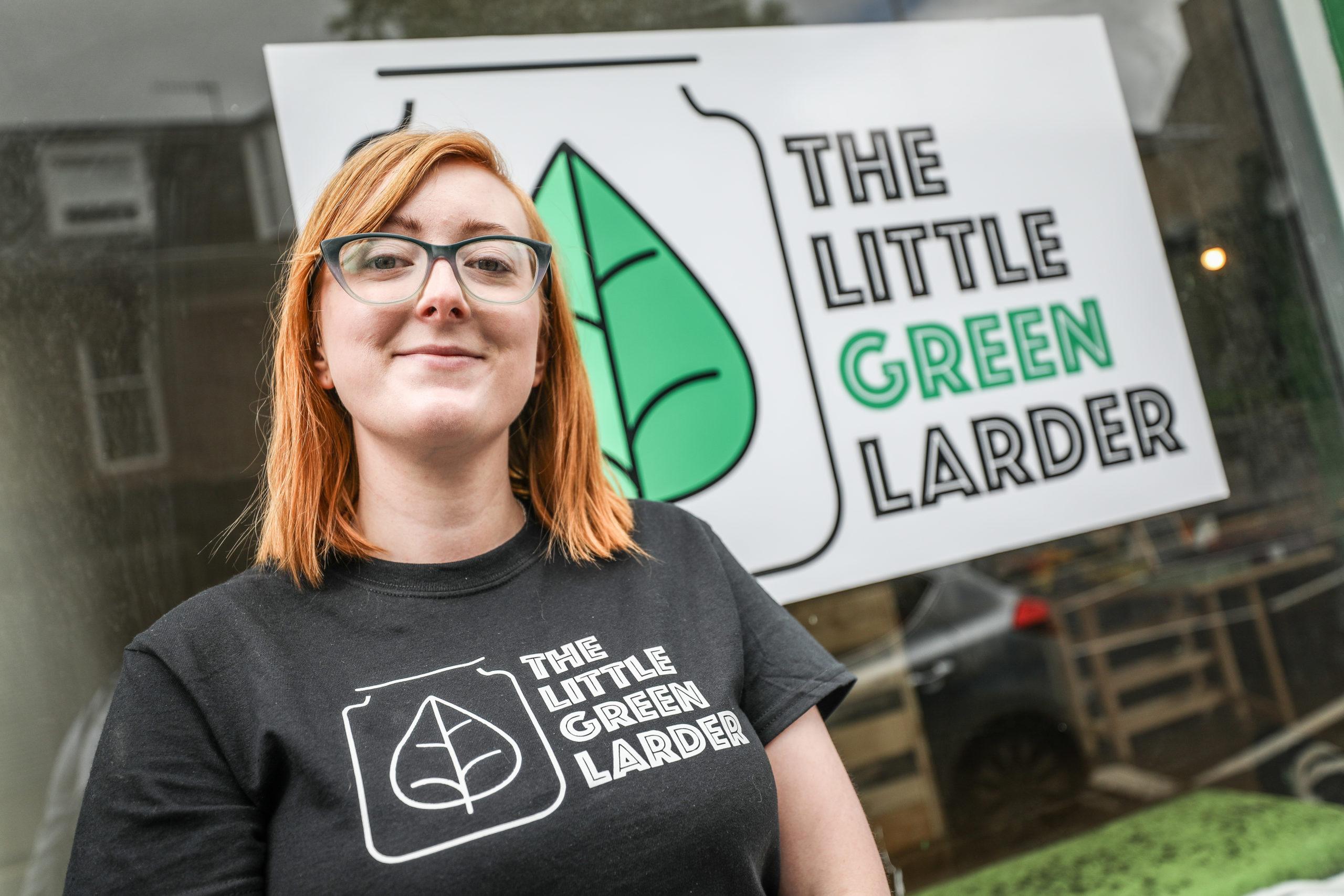 Jillian Elizabeth outside her shop, Little Green Larder.