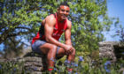 Rugby player Kaleem Barreto who is running a marathon in his back garden for NHS charities.