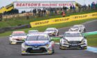 2019 BTCC action at Knockhill.