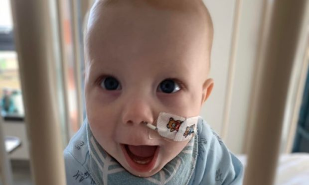 Luca Martin's care at Victoria Hospital, where he was tested for coronavirus, was praised by his mum Ali.