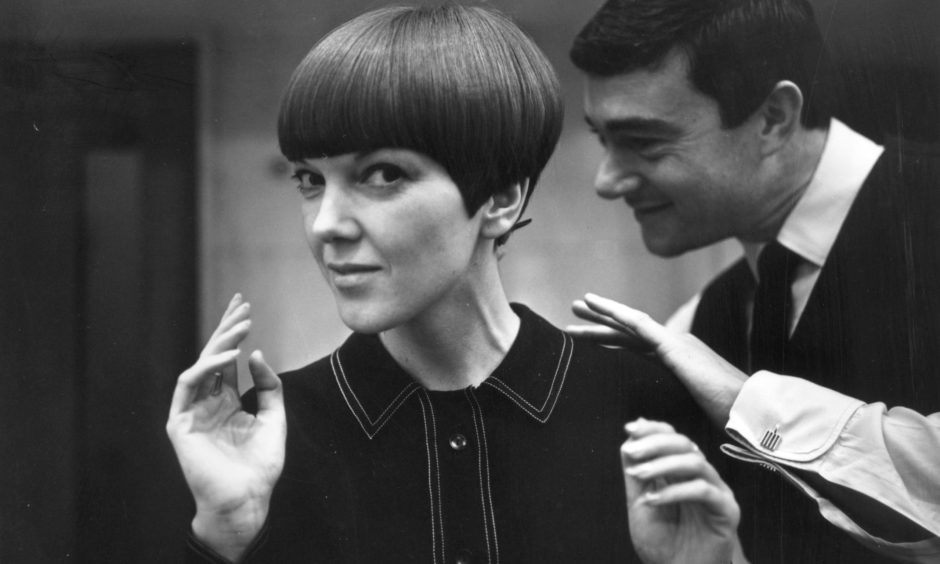 Mary Quant, one of the leading lights of the British fashion scene in the 1960s, having her hair cut by iconic hairdresser Vidal Sassoon in November 1964.