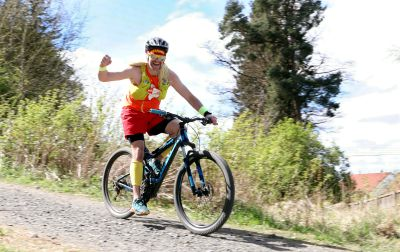 Michael Souter during his cycle. Picture: Gareth Jennings.