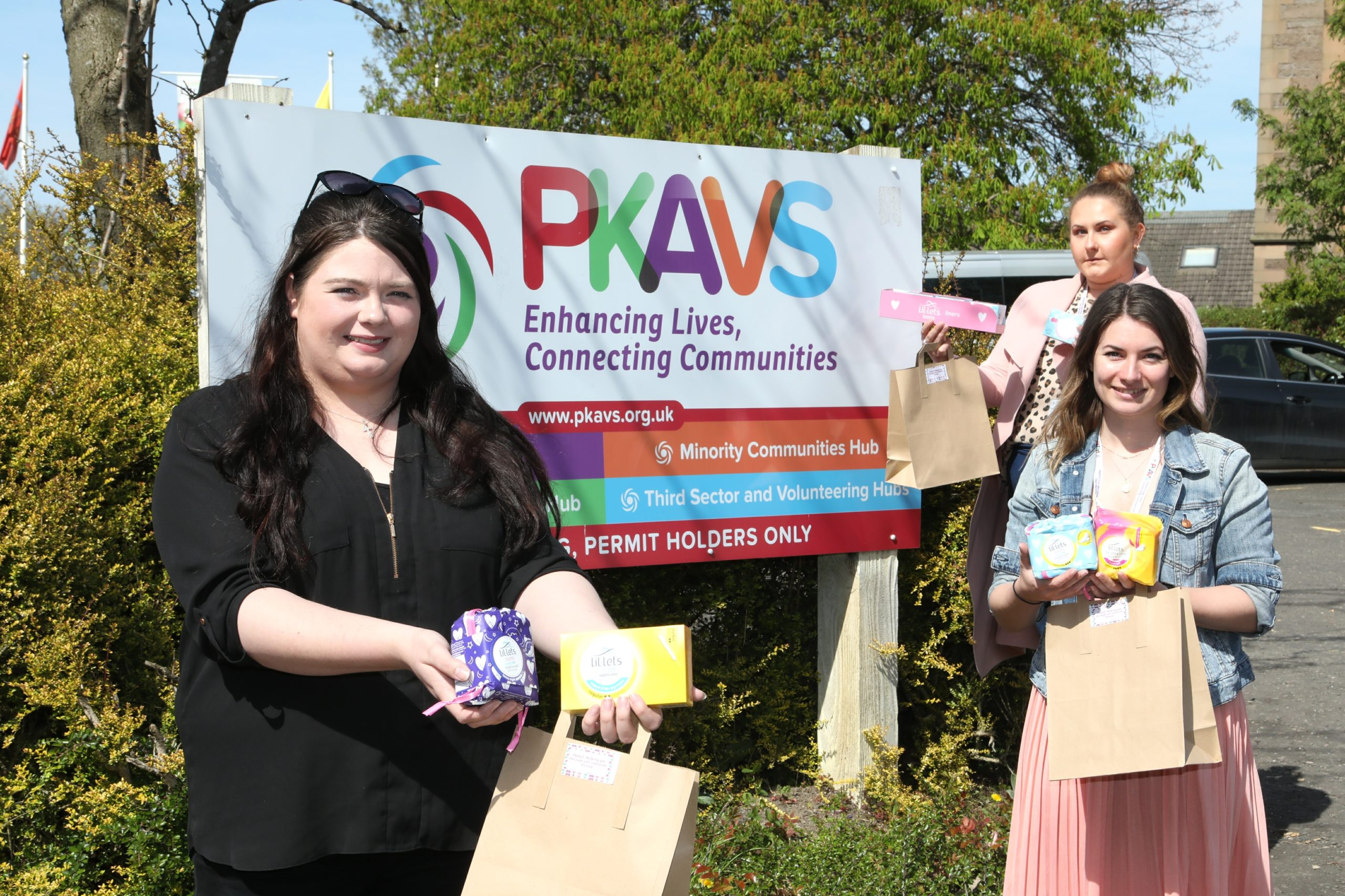 PKAVS staff Jenni Keenan, Amy Bryson and Agnieszka Morrison. Picture: Gareth Jennings.