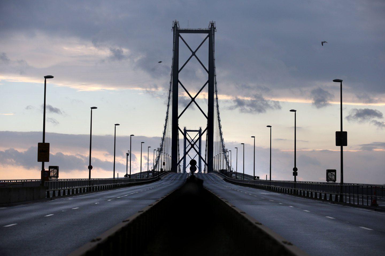 The Forth Road Bridge.