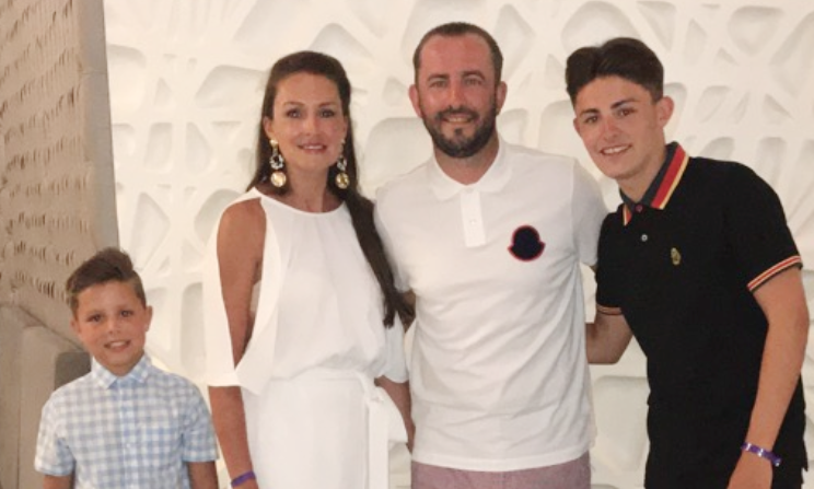 Paul Clark pictured with his family.