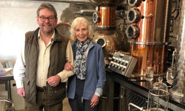 Simon and Lillias Fairclough at the Persie gin distillery, Glenshee