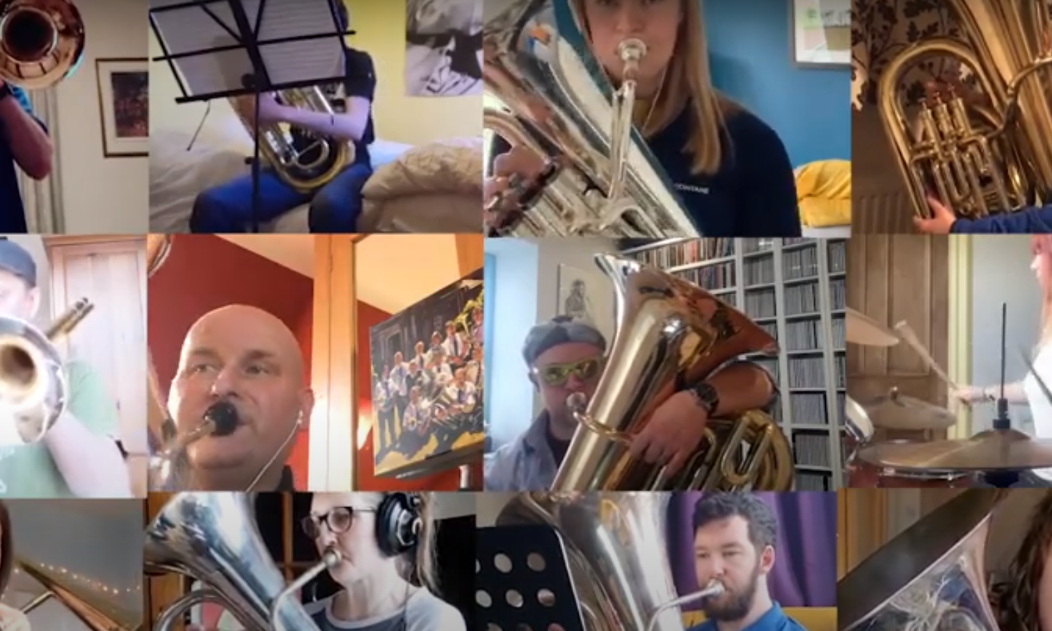 Perthshire Brass members treated fans to a favourite to beat the lockdown blues.
