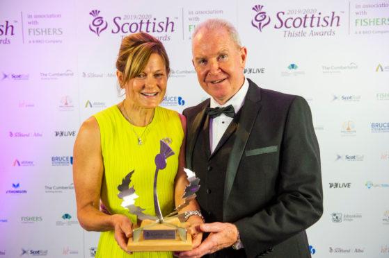 Sarah Heward with her husband and business partner, Alan McColm.