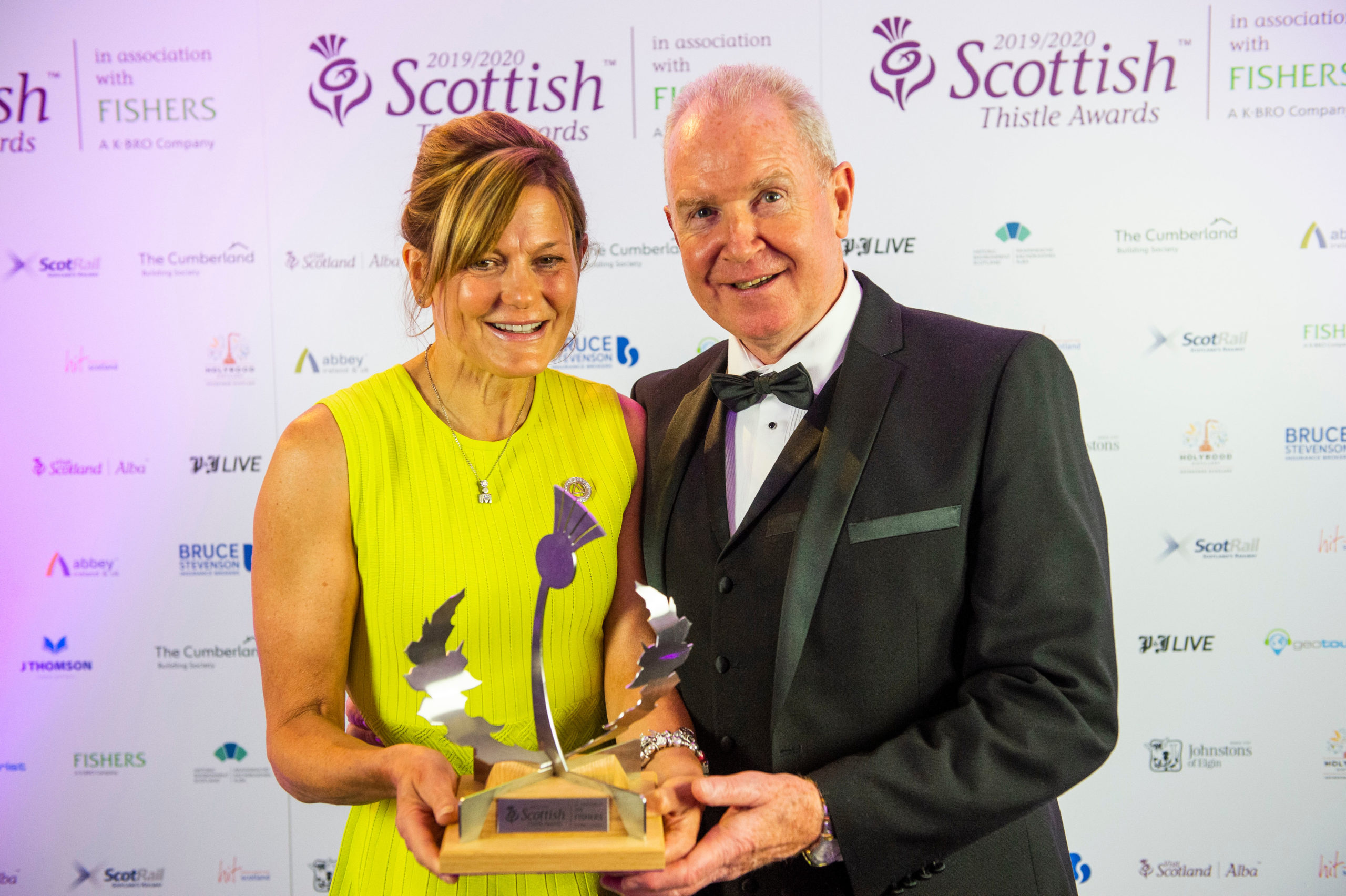 Sarah Heward with her husband and business partner, Alan McColm.