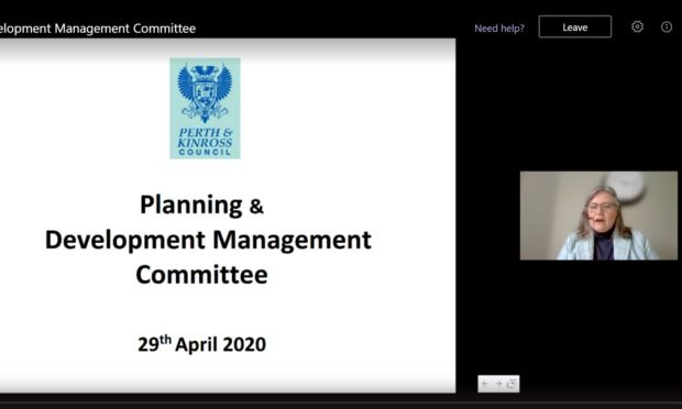 Cllr Roz McCall lead Perth and Kinross Councils first ever online committee meeting.
