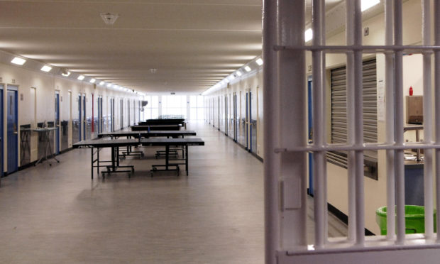 A general view of Monro Hall, the newest prisoner accommodation block at Polmont Young Offenders Intitution near Falkirk.