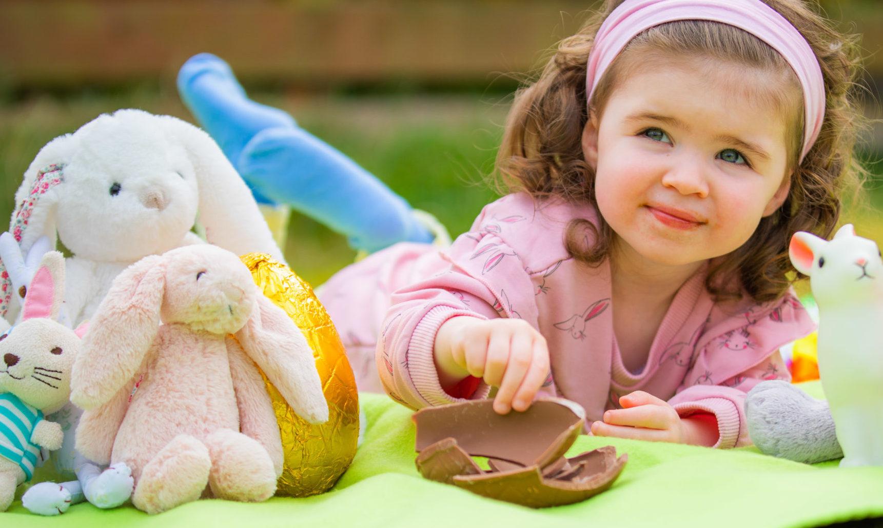 Clara MacDougall enjoying an afternoon of easter egg hunting.