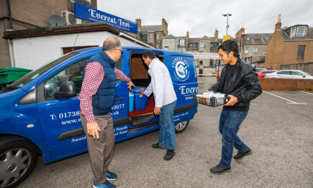 The Everest Inn and Tabla staff have been donating meals to PRI.