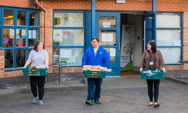 Jon and the team at Letham4all recently launched the community fridge.