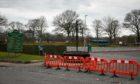 Barriers have been erected at Beveridge Park.