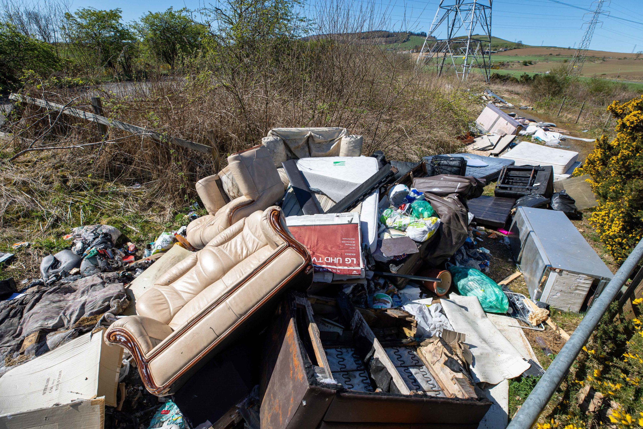 An example of fly-tipping in Fife.
