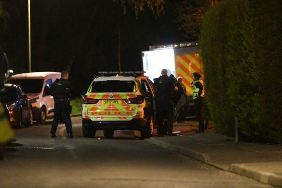 Armed police at the scene in Scone