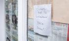 A Tayside shop closed due to the coronavirus lockdown.