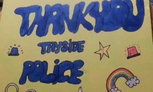 Jessica Crabb's thank you poster.