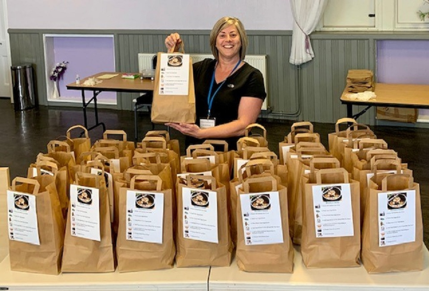 Teresa Sharp has put together soup kits for local families.