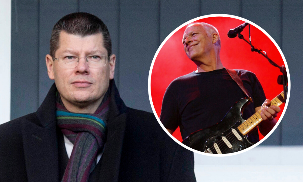 Neil Doncaster was a security guard at Pink Floyd gig, with band's Dave Gilmour inset