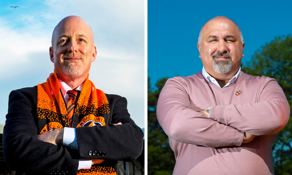 Mark Ogren and Tony Asghar paid tribute to Tangerines support