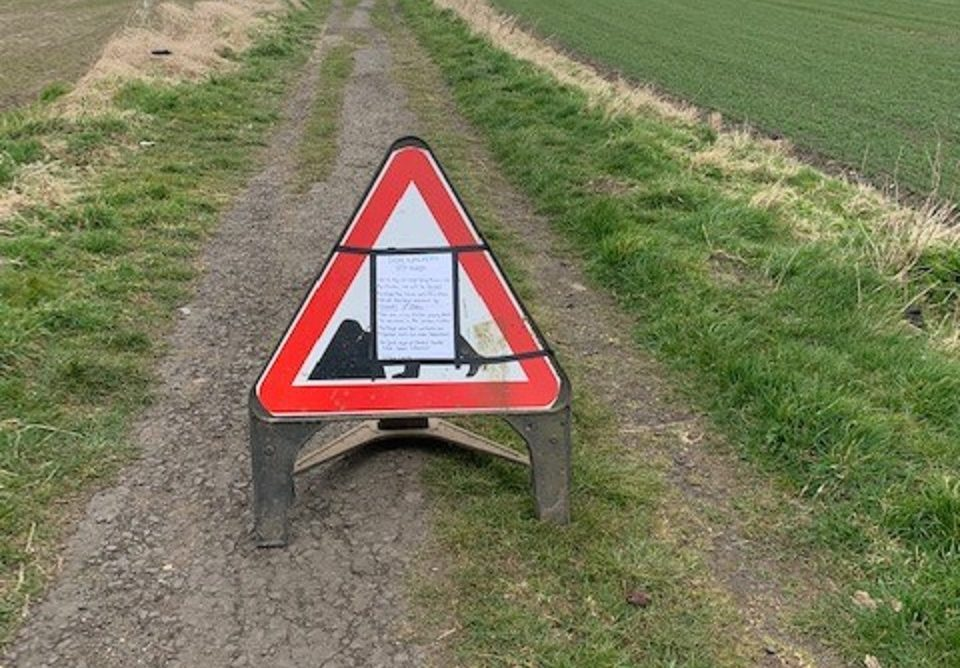 Coaltown of Wemyss farmer William Laird has been forced to put up signage.