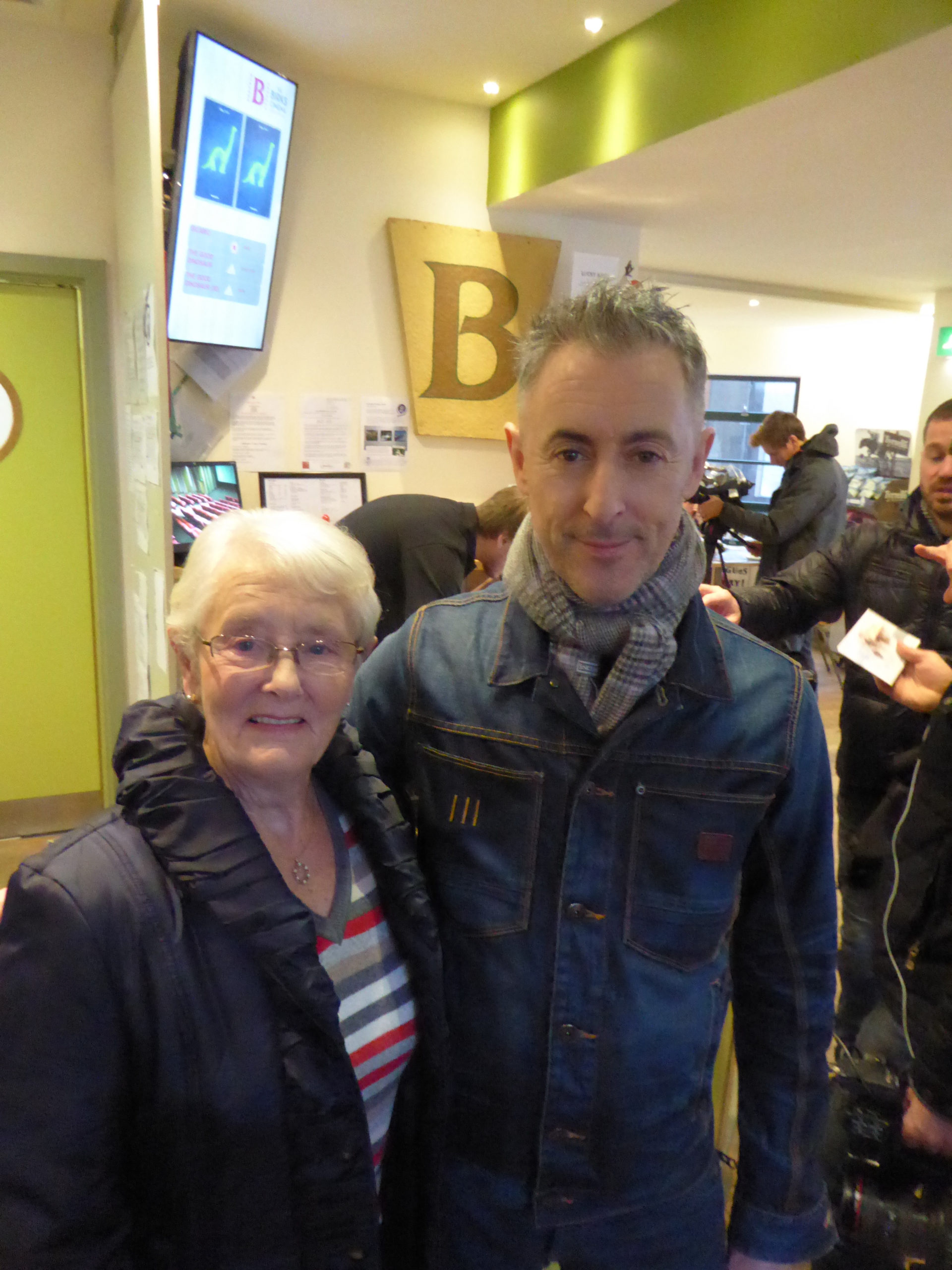 Alan Cumming, with mum Mary Darling, at The Birks Cinema in Aberfeldy.