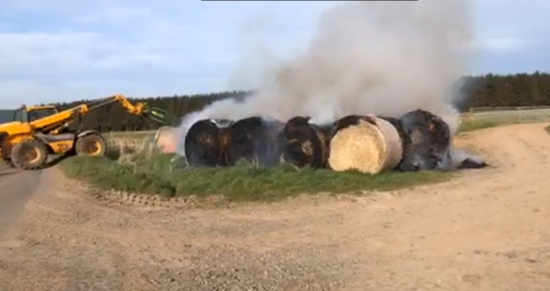 The fire broke out at Newton of Fothringham, near Forfar.